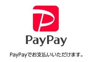 PayPayでお支払いいただけます。